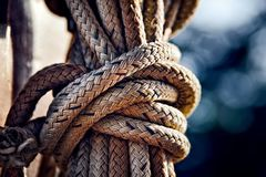 Brown Rope Stock Photo