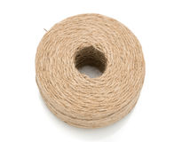 Brown rope roll Royalty Free Stock Photography