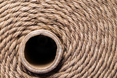 Brown rope. Rolled up brown rope background with core Royalty Free Stock Photography