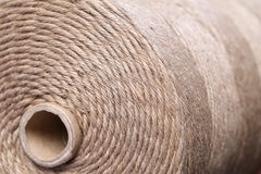Brown rope. Rolled up brown rope background with core Royalty Free Stock Photos