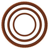 Brown rope in three sizes Stock Photography