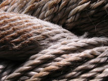 Brown ropes close-up Royalty Free Stock Images