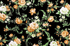 Brown Rose Fabric Background, Fragment of colorful retro tapestr Stock Images