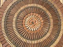 Brown rotondo Fotografia Stock Libera da Diritti