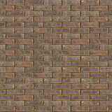 Brown Rough Brick Wall. Seamless Tileable Texture. Decorative Rough Brown Brick Wall. Seamless Tileable Texture Stock Images