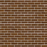 Brown Rough Brick Wall. Seamless Tileable Texture. Decorative Rough Brown Brick Wall with White Seam. Seamless Tileable Texture Stock Photo