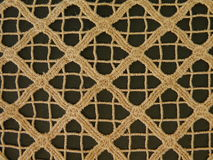 Brown rough fabric Royalty Free Stock Images