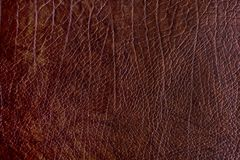 Brown rough leather textured background Royalty Free Stock Images
