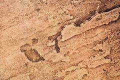 Brown rough stone texture horizontal background Royalty Free Stock Photography