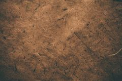 Brown rough vintage paper. Abstract background and texture for designers. Old vintage recycled paper. Dark rough vintage paper. Royalty Free Stock Photo