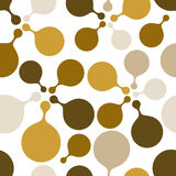 Brown round bubbles repeat pattern. Stock Photography