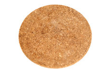 Brown Round Cork Coaster Stock Images