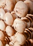 Brown round shape wooden object. Some brown coloured  round shape wooden objects isolated unique photo stock photo