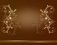 Brown royal background Stock Image