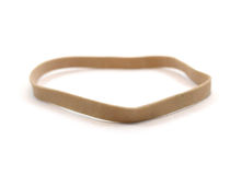 Brown rubber band Royalty Free Stock Photos