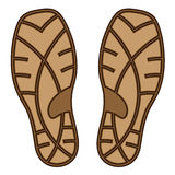 Brown rubber shoe sole. Illustration for the web Royalty Free Stock Photo