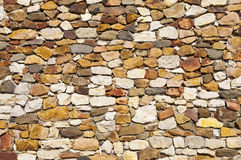 Brown rubble wall Royalty Free Stock Image