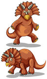 Brown rubeosaurus in two different poses Stock Images