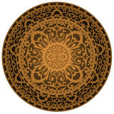 Brown rug. Vector illustration of brown rug Stock Photos