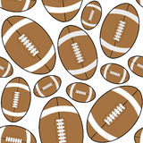 Brown Rugby American Football Seamless Royalty Free Stock Photography