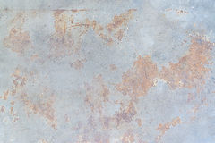 Brown rust stains on polished old grey concrete floor Stock Photography