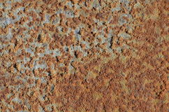 Brown rust stains on the surface of a steel pipe Royalty Free Stock Photos