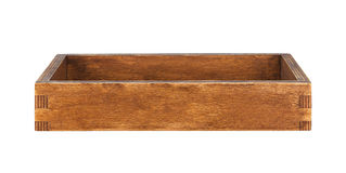 Brown rustic wooden box Royalty Free Stock Photography