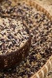 Brown ryż Obrazy Stock