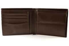 Brown skóry portfel Obrazy Stock