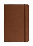 Brown rzemienny notatnik odizolowywający Obrazy Stock
