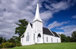 Brown's Yard church, New Brunswick. A quaint protestant church in rural New Brunswick, Canada royalty free stock photography