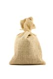 Brown sack. Brown textured sack. Isolated on white Royalty Free Stock Photo