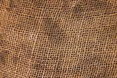 Brown sack cloth material. Stock Photos