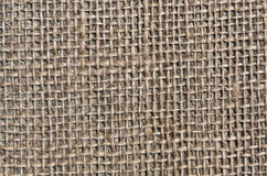 Brown sack cloth texture. Royalty Free Stock Photography