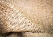 Brown sack weave texture Royalty Free Stock Image