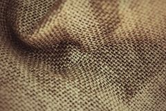 Brown sackcloth background Royalty Free Stock Images