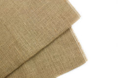 Brown Sackcloth texture Stock Photography