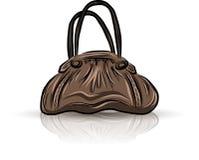 Brown sad bag Stock Image