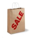 Brown sale paper bag Stock Photo