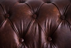 Brown sample of an upholstery of a sofa Stock Image