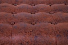 Brown sample of an upholstery of a sofa Stock Images