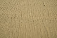 Brown sand background. Stripe brown sand background in the morning Royalty Free Stock Photography
