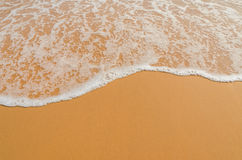 Brown sand beach. With soft wave Royalty Free Stock Images
