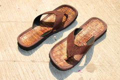Brown sandały Zdjęcia Royalty Free
