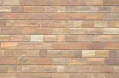 Brown sandstone wall Royalty Free Stock Images