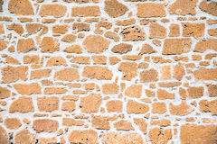 Brown sandstone wall Royalty Free Stock Image