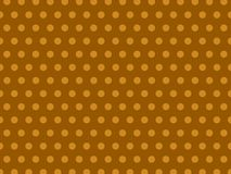 Brown sans couture Dot Background Pattern en pastel jaune illustration stock