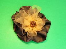 Brown satin flower Royalty Free Stock Photo