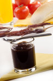 Brown sauce in a glass Royalty Free Stock Photos