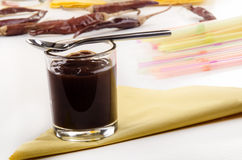 Brown sauce in a glass Royalty Free Stock Photography